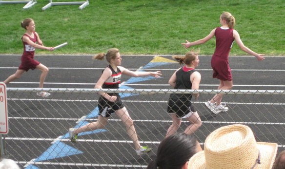 Sports Girl running relay after MPFL surgery